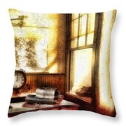 Office Throw Pillow by Mo T