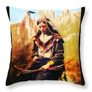 Oglala Homeland Throw Pillow by Lianne Schneider