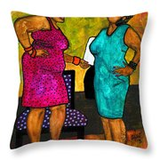 Oh Girl Don't Make Me Laugh Throw Pillow by Angela L Walker