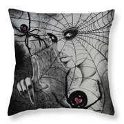 Oh What Tangled Webs We Weave Throw Pillow by Carla Carson