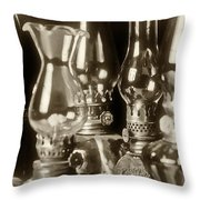 Oil Lamps Throw Pillow by Patrick M Lynch
