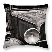 Ol' Trucky Throw Pillow by Olivier Le Queinec