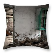 Old abandoned kitchen Throw Pillow by RicardMN Photography
