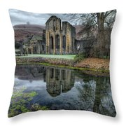 Old Abbey Throw Pillow by Adrian Evans