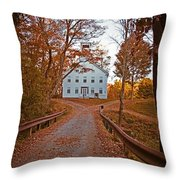 Old Academy South Woodstock Throw Pillow by Edward Fielding