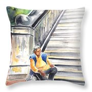 Old And Lonely In Prague 02 Throw Pillow by Miki De Goodaboom