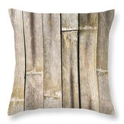 Old Bamboo Fence Throw Pillow by Alexander Senin