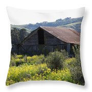 Old Barn In Sonoma California 5d22232 Throw Pillow by Wingsdomain Art and Photography