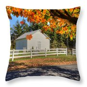 Old Bethel Church 1842 Throw Pillow by Dan Friend