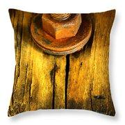 Old Bolt Throw Pillow by Newel Hunter