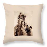 Old Cheyenne Throw Pillow by Studio Photo