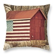 Old Country America Throw Pillow by Trish Tritz