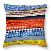 Old Country Store Fabrics Throw Pillow by Christine Till