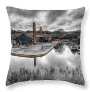 Old Dock Throw Pillow by Adrian Evans