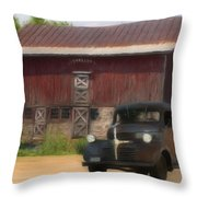 Old Dodge Truck Throw Pillow by Jack Zulli