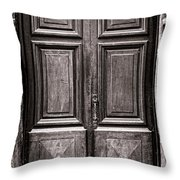 Old Door Throw Pillow by Olivier Le Queinec