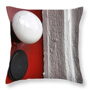 Old Doorknob Throw Pillow by Olivier Le Queinec