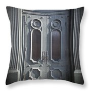 Old Doorway Quebec City Throw Pillow by Edward Fielding