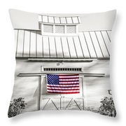 Old Glory Circa 1776 Throw Pillow by Edward Fielding