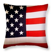 Old Glory Throw Pillow by Ernie Echols