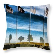 Old Glory-the American Flag Throw Pillow by Luther   Fine Art