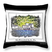 Old Homestead By The Sea Throw Pillow by Barbara Griffin