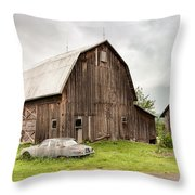 Old Jaguar Homestead - Vintage Americana Throw Pillow by Gary Heller