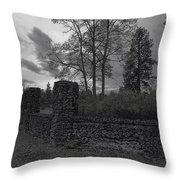 OLD LIBERTY PARK RUINS in Spokane Washington Throw Pillow by Daniel Hagerman