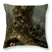 Old Man Of The Forest Throw Pillow by Daniel Eskridge