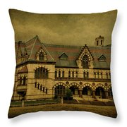 Old Post Office - Customs House Throw Pillow by Sandy Keeton