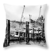 Old Salty Throw Pillow by Debra Forand