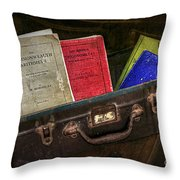 Old School Days Throw Pillow by Kaye Menner
