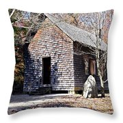 Old Schoolhouse Building Throw Pillow by Susan Leggett