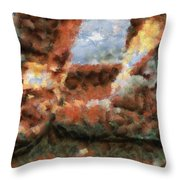 Old Snow Boots Throw Pillow by Ayse Deniz