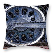 Old Steam Engine -train Wheels Throw Pillow by Liane Wright