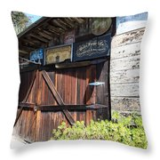 Old Storage Shed At the Swiss Hotel Sonoma California 5D24459 Throw Pillow by Wingsdomain Art and Photography