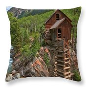 Old Time Colorado Throw Pillow by Adam Jewell