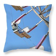 Old Time Ferris Wheel Throw Pillow by Ann Horn