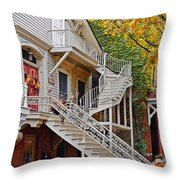 Old Town Chicago Living Throw Pillow by Christine Till