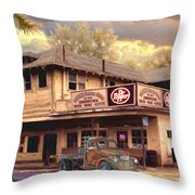 Old Town Irvine Country Store Throw Pillow by Ronald Chambers