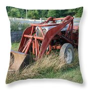 old tractor Throw Pillow by Jennifer Lyon