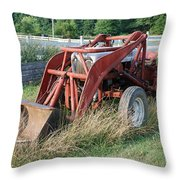 Old Tractor Throw Pillow by Jennifer Ancker