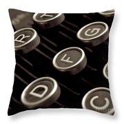 Old Typewriter Throw Pillow by Bernard Jaubert