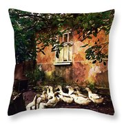 Old Ukrainian Village Throw Pillow by Julie Palencia