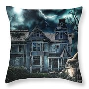 Old Victorian House Throw Pillow by Mo T