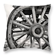 Old Wagon Wheels Throw Pillow by Jane Rix
