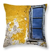 Old Wall In Serbia Throw Pillow by Elena Elisseeva