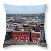Old West Bottoms Kcmo Throw Pillow by Liane Wright