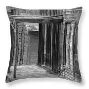 Old West            Pencil Throw Pillow by Mark Eisenbeil