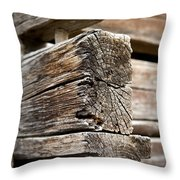 Old Wood Throw Pillow by Frank Tschakert